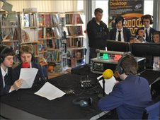 Radio workshop with St Joseph's Catholic School students