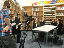 School Reporters interview the Year 8 students