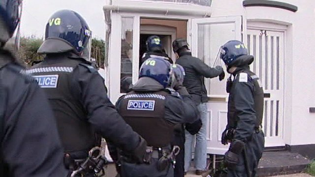 Drugs raid in Clacton, Essex