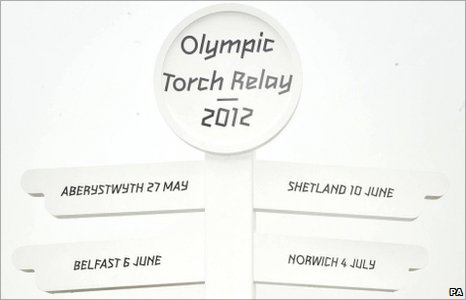 During the 10-week relay, Olympic torch will be carried by 8000 torchbearers and will travel about 8000 miles around the UK