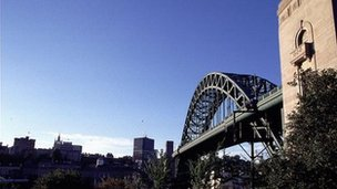 Tyne Bridge and Newcastle skyline