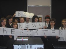 School Reporters at Sir John Gleed