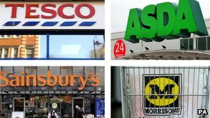Tesco, Asda, Sainsbury&#039;s and Morrisons
