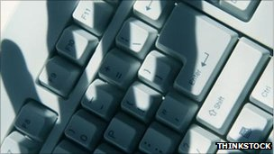 Shadow on keyboard