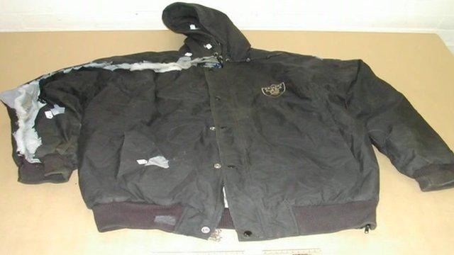 Jacket on table