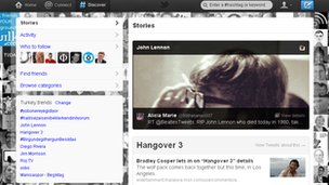 A screenshot from the Twitter redesign