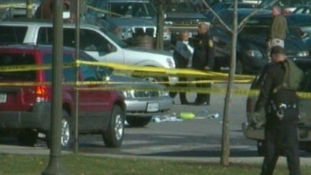 Crime scene at Virginia Tech