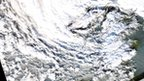 Colour satellite image of storm. Pic: data we received from the Aqua