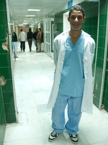 Adam Mubarit is a trainee doctor who helped in the conflict but has gone back to his studies
