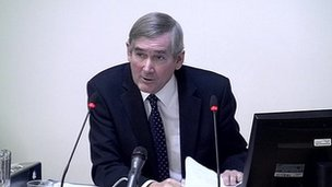 Former Information Commissioner Richard Thomas at the Leveson Inquiry