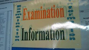 school examination notice board