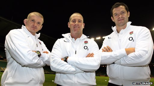 England's interim coaching team of Graham Rowntree, Stuart Lancaster and Andy Farrell