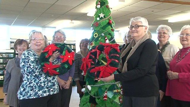 Women from Cramlington Knit 'n' Natterers group