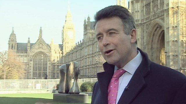 Bernard Jenkin outside parliament.