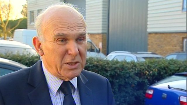 The Business Secretary Vince Cable