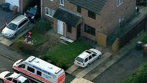 Aerial shot of house on Robin Crescent