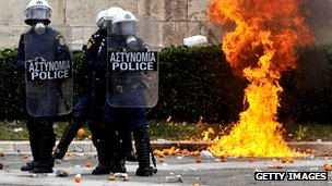 Protests in Greece over austerity measures