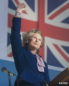 Meryl Street as Margaret Thatcher in the film The Iron Lady