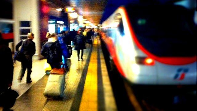 Rome train station, Italy