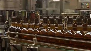 whisky production line