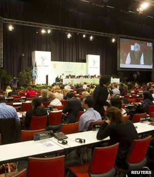 Climate talks plenary hall, Durban (Image: Reuters)