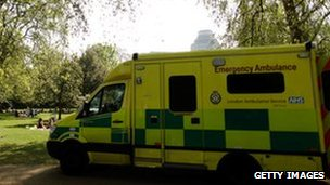 London Ambulance Service vehicle
