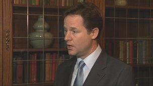 UK Deputy Prime Minister Nick Clegg