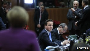 The UK's David Cameron at the EU summit