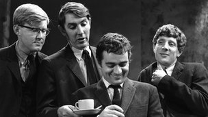 Beyond the Fringe (l-r): Alan Bennett, Peter Cook, Dudley Moore and Jonathan Miller