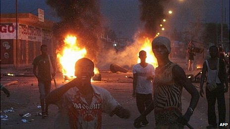 Unrest in Kinshasa. 9 Dec 2011