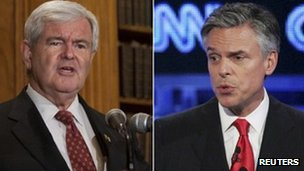 Gingrich and Huntsman
