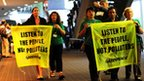 Greenpeace activists in Durban, South Africa, 9 December 2011