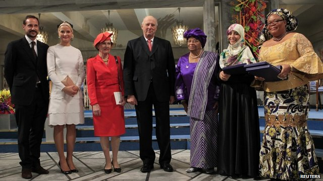 Norwegian royalty and Nobel Peace Prize winners