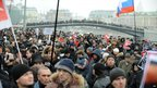Opposition activists protest against alleged electoral fraud at Bolotnaya Square in central Moscow on Saturday