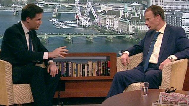 Andrew Marr interviews Deputy Prime Minister Nick Clegg