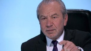 Lord Sugar in The Apprentice