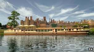 The Spirit of Chartwell outside Hampton Court Palace in London