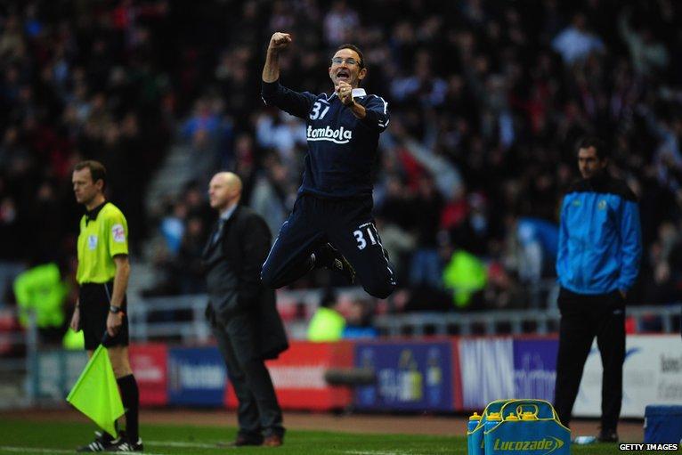 Martin O'Neill celebrates