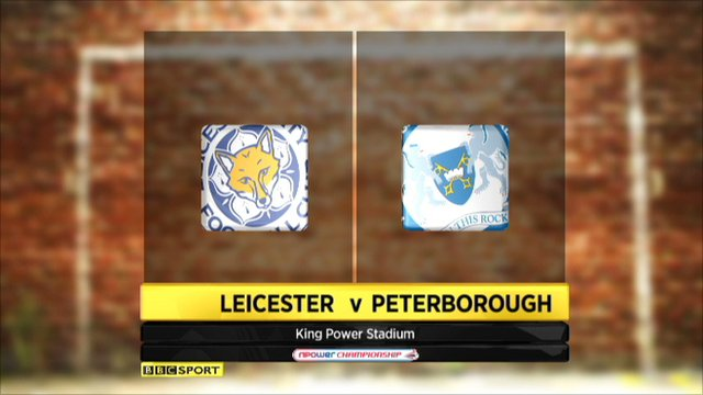 Leicester 1-1 Peterborough