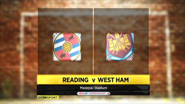 Reading 3-0 West Ham