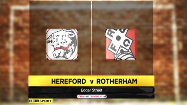 Hereford 2-3 Rotherham