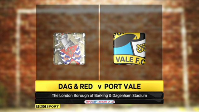 Dag & Red 1-2 Port Vale