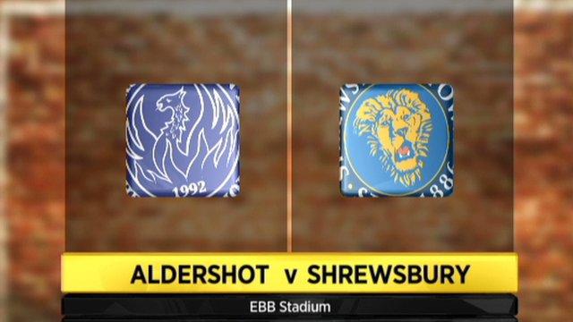 Aldershot 1-0 Shrewsbury