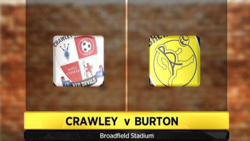 Crawley Town 3-0  Burton Albion