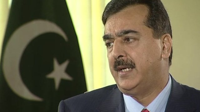 Pakistani Prime Minister Yousef Raza Gilani