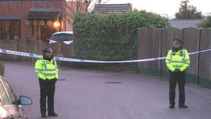 Police outside property in Pudsey