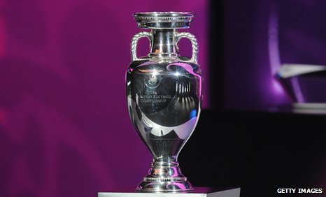 The European Championship trophy