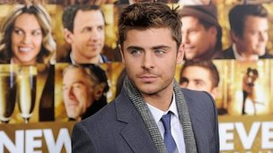 Zac Efron at the premiere of New Year's Eve