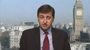 Shadow foreign secretary Douglas Alexander