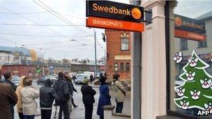 A Swedbank branch in Latvia